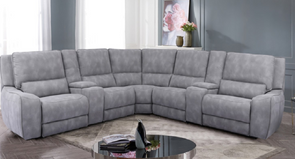 Persia 7 PC Power Reclining Sectional With Power Headrest