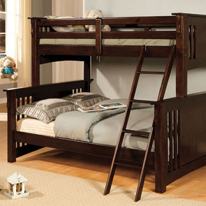 Ashton - Walnut - Twin/Full Bunk Bed