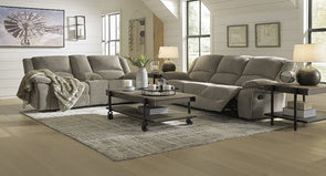 Draycoll - Pewter - Reclining Sofa or Loveseat