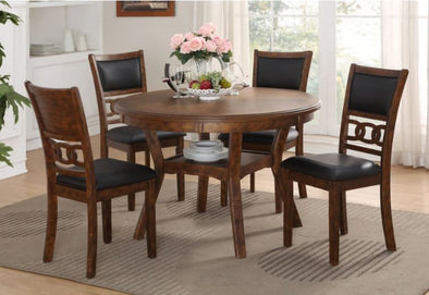 Gia - Brown - 5PC Round Dining Set
