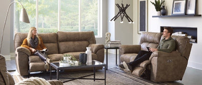 Hollins Power Reclining Sofa & Loveseat