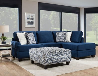 Indigo Blue - 2-PC Deep Seating Sectional