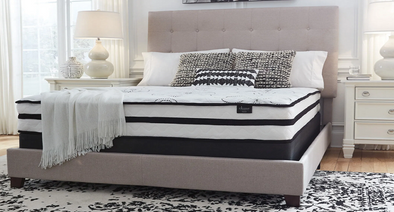 Chime 10 Inch Hybrid - White - Queen Mattress