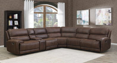 Greyson Top Grain 6 PC Leather Power Reclining Sectional