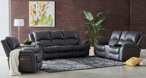 Starling - Graphite - 2 Piece Power Reclining Sofa & Power Reclining Loveseat