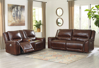 Catanzaro - Mahogany - 2 Piece Power Sofa and Power Loveseat *SPECIAL*