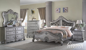 Adriana - Silver - Upholstered King Bed