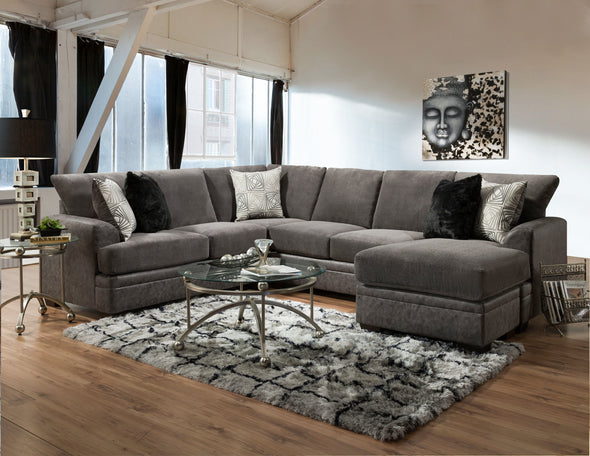 Parkway Graphite 2-PC Floating Chaise Sectional