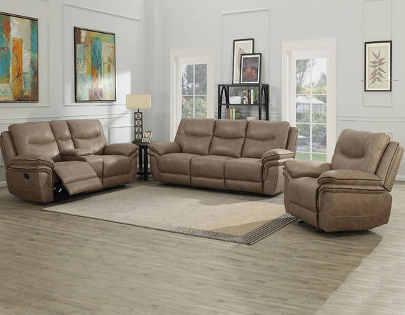 Isabella - Sand - 2-PC Reclining Sofa & Reclining Loveseat