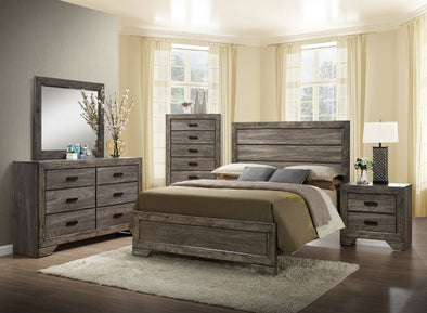 Nathan - Gray Oak - 5PC Queen Bedroom Set w/ *FREE NIGHTSTAND*