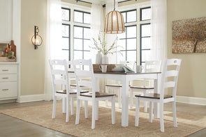 Woodanville - Cream/Brown - Dining Room Table Set (7/CN)