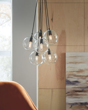 Sybil - Clear/Black - Glass Pendant Light (1/CN)