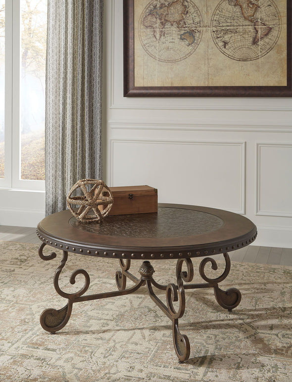 Rafferty - Dark Brown - Round Cocktail Table