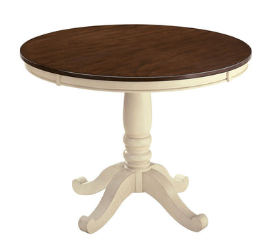 Whitesburg - Brown/Cottage White - Round Dining Room Table Top