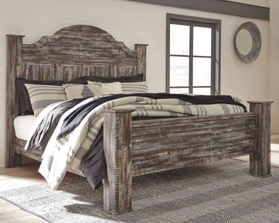 Lynnton - Rustic Brown -  Poster Bed