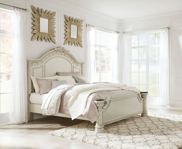 Cassimore - Pearl Silver -  Panel Bed