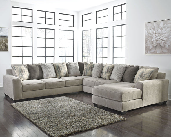 Ardsley - Pewter - LAF Sofa, Wedge, Armless Loveseat & RAF Corner Chaise Sectional