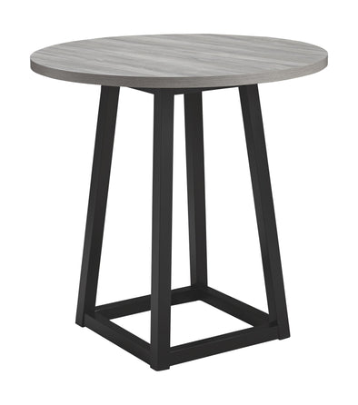 Showdell - Gray/Black - Round DRM Counter Table