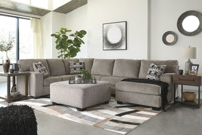 Ballinasloe - Platinum - LAF Sofa, Armless Loveseat & RAF Corner Chaise Sectional
