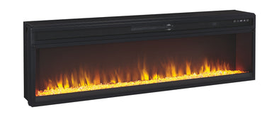 Entertainment Accessories - Black - Wide Fireplace Insert