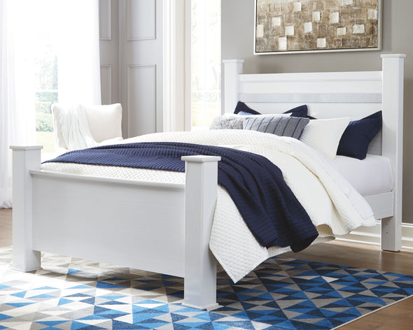 Jallory - White -  Poster Bed