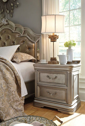 Birlanny - Silver - Two Drawer Night Stand