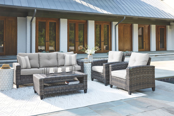 Cloverbrooke - Gray - Sofa/Chairs/Table Set (4/CN)