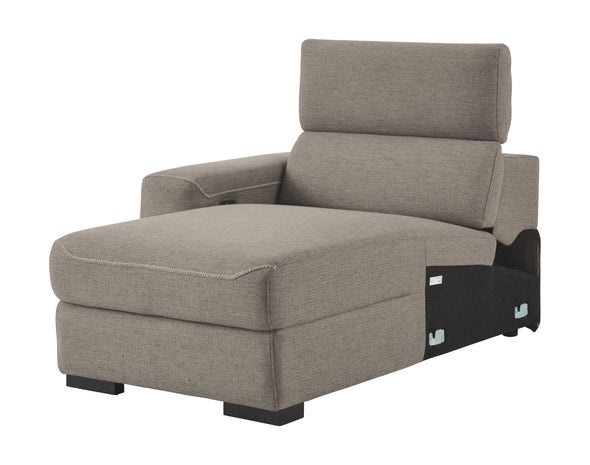 Mabton - Gray - LAF Press Back Power Chaise