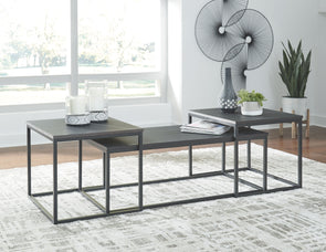 Yarlow - Black - Occasional Table Set (3/CN)