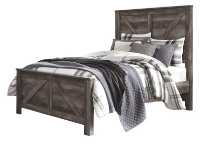 Wynnlow - Gray -  Crossbuck Panel Bed