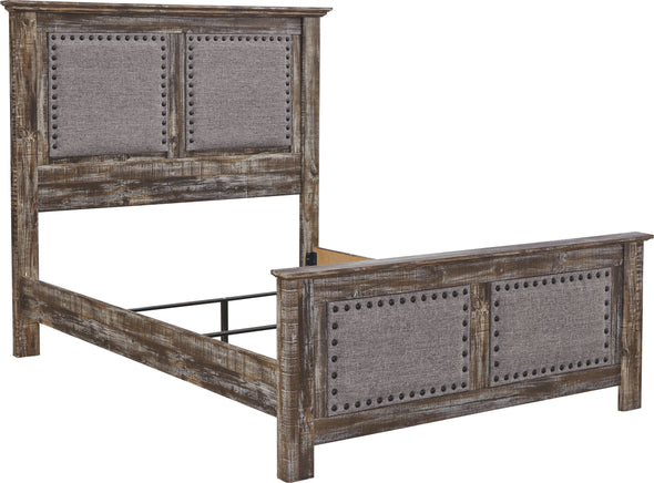 Lynnton - Rustic Brown - Queen Rails