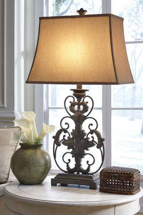 Sallee - Gold Finish - Poly Table Lamp (1/CN)