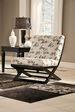 Levon - Charcoal - Showood Accent Chair
