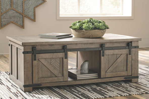 Aldwin - Gray - Rect Storage Cocktail Table