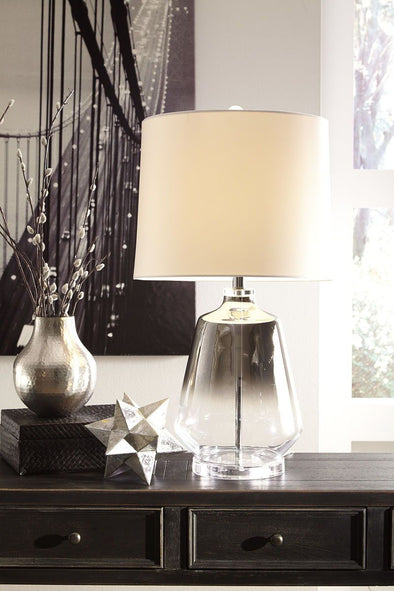 Jaslyn - Silver Finish - Glass Table Lamp (1/CN)