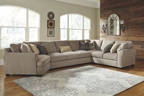 Pantomine - Driftwood - LAF Cuddler, Armless Sofa, Wedge & RAF Loveseat Sectional