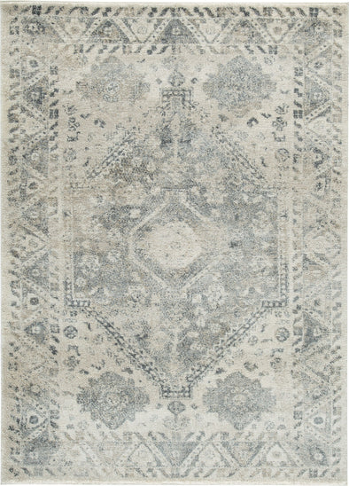 Precia - Gray/Cream - Large Rug