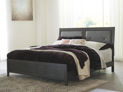 Delmar - Dark Gray -  UPH Panel Bed