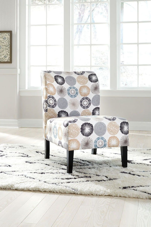 Triptis - Gray/Tan - Accent Chair
