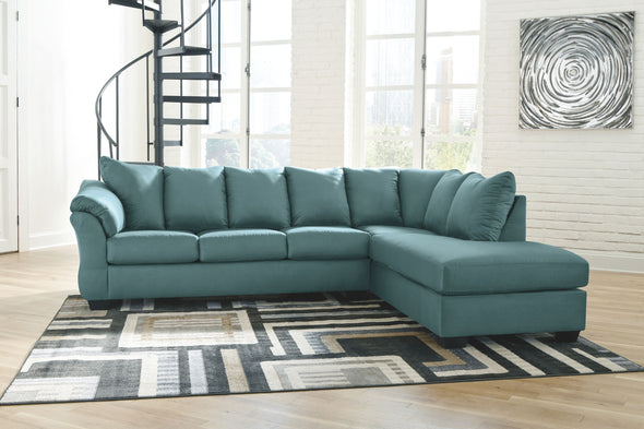Darcy - Sky - LAF Sofa & RAF Corner Chaise Sectional