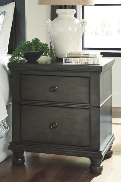 Devensted - Dark Gray - Two Drawer Night Stand
