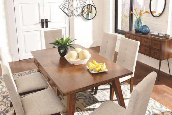 Centiar - Two-tone Brown - 7 Pc. - RECT DRM Table & 6 UPH Side Chairs
