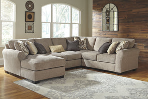Pantomine - Driftwood - LAF Corner Chaise, Armless Loveseat, Wedge & RAF Loveseat Sectional