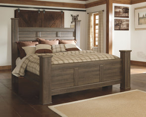 Juararo - Dark Brown -  Poster Bed