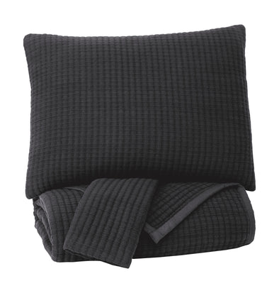 Thornam - Black - King Coverlet Set