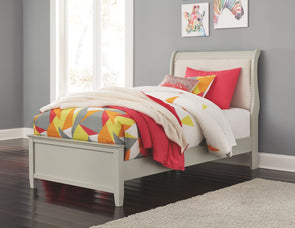 Jorstad - Gray -  Sleigh Bed