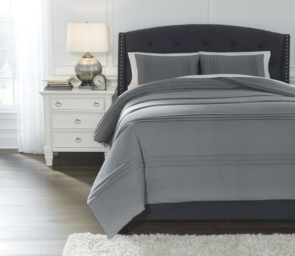 Mattias - Slate Blue - Queen Comforter Set