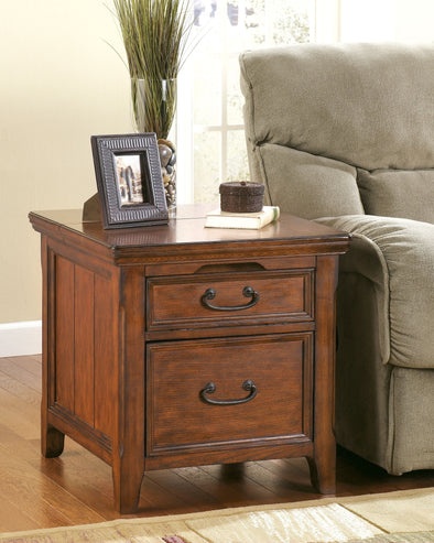 Woodboro - Dark Brown - Media End Table