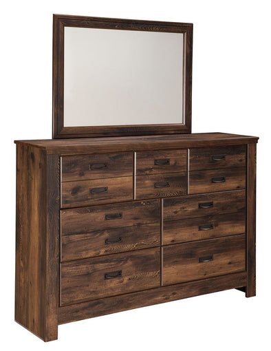 Quinden - Dark Brown - Bedroom Mirror