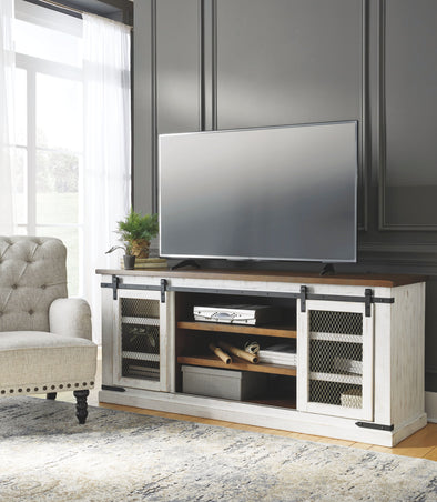 Wystfield - White/Brown - Extra Large TV Stand